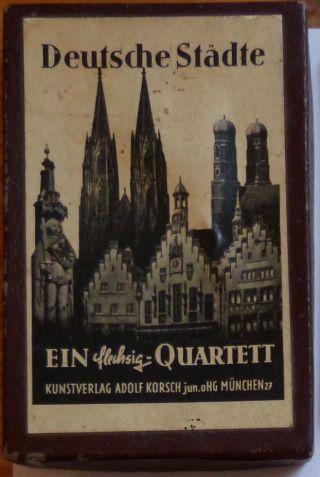 Deutsche Städte - Ein Flechsig - Quartett,  Kunstverlag Adolf Korsch,  Um 1953 Bild