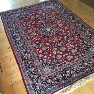 Perser Wertvoller Teppich Aus Dem Iran,  Kashan Unikat 215 X 142 Handgeknüpft Bild