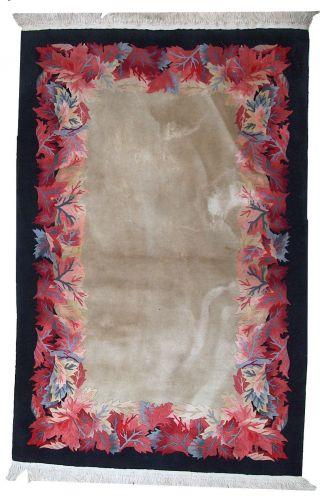 Weinlese Chinesisch Art Deco Stil Teppich Handgeknüpft 122cm X 186cm 1970 Bild