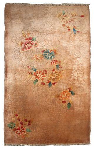 Antiker Chinesisch Art Deco Teppich Handgeknüpft 91cm X 149cm 1920 Bild