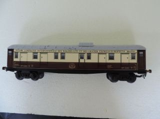 "A S Spur 0 Tin Plate Gepäckwagen ""compagnie Internationale Des Wagons - Lits"" 1264 Bild"