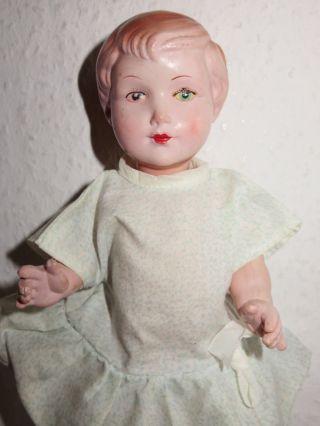 Alte Puppe Niedliches Mädchen 24 Cm Bild