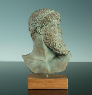 Büste Des Zeus Poseidon Athen Griechenland 450 V.  Chr.  Museumsreplik Stuck Bild
