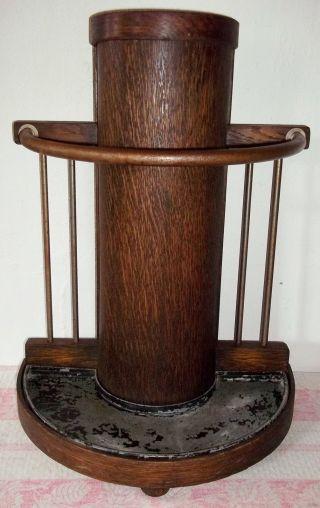 Antiker Schirmständer Um 1920 - Eiche H52cm Bild