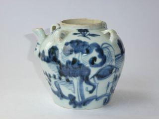 China Tee Kanne Porzellan 19.  Jhdt.  Chinese Porcelain Teapot 19th Bild