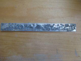 Chinabarren Antik (tibet) Glücksbringer Silberbarren Briefbeschwerer 139g Bild