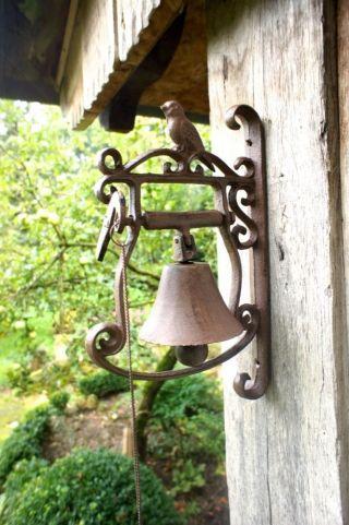 Türglocke Mit Kleinem Vogel - Glocke Fürs Gartenhaus Und Als Haustür Dekoration Bild