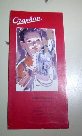 Ozaphan Prospekt 8 Mm Sicherheitsfilm 1959 4259 Bild