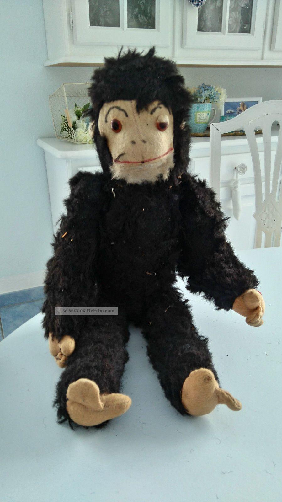 Alter Antiker Affe Stofftiere & Teddybären Bild