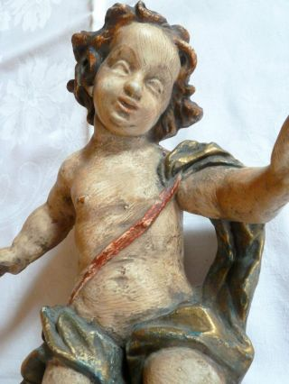 Antiker Engel Skulptur Putte Figur Erzengel Bild