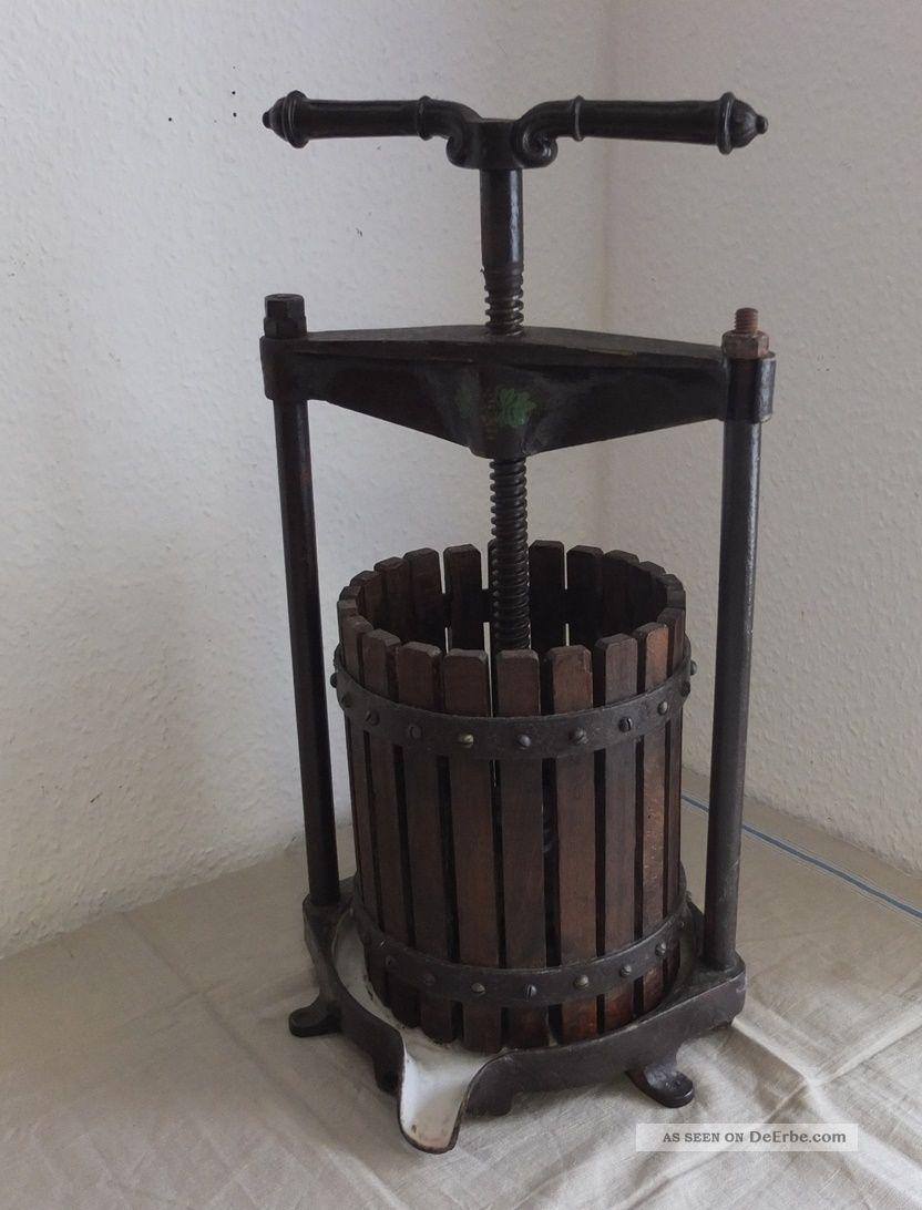 Antik Weinpresse Fruchtpresse Saftpresse Um 1900 Bauer Bild