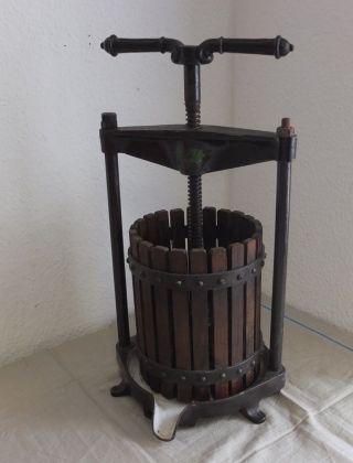 Antik Weinpresse Fruchtpresse Saftpresse Um 1900 Bild