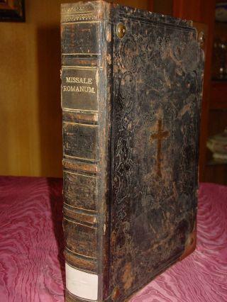 Missale Romanum Von 1891 Prachtvolles Riesiges Uraltes Altar Messbuch Liturgie Bild
