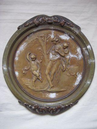 2 / 2 Stuck - Relief - Skulptur 19.  Jh.  Kassizismus