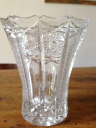 Böhmische Kristallvase 20 Cm Hoch In Sehr,  Tolle Form Bild
