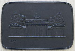 Buderus Jahresplakette 1967 - Brandenburger Tor Bild
