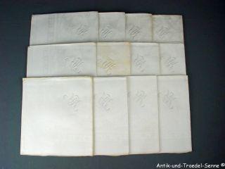 12 Schöne Antike Servietten Leinen Damast Mit Monogramm 74x72 Cm 7. Bild