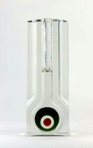 Vintage 70er Große Walther Glas Vase Solifleur Blockvase Pop - Art Design Bild