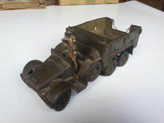 Rar Wehrmacht Lkw Blechspielzeug Mit Elastolin Soldat Fernglas Antik Bild