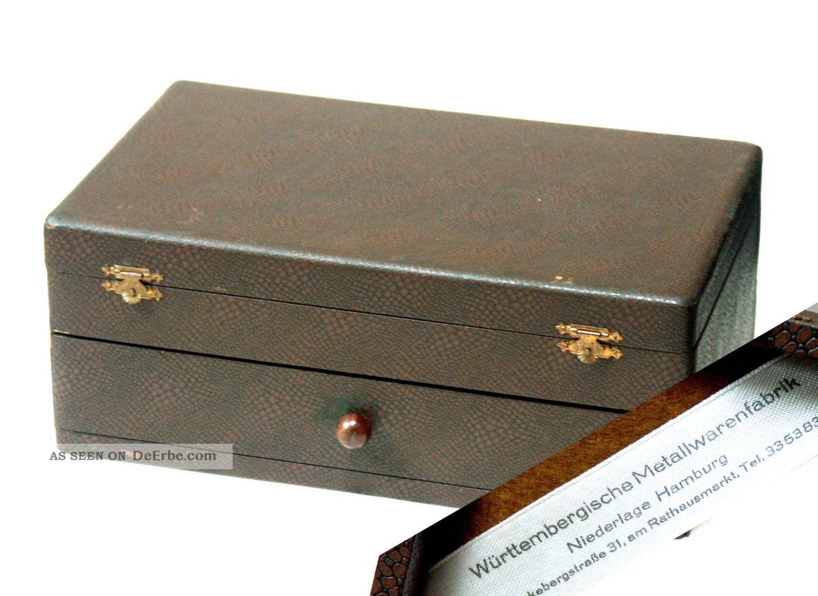 antiker wmf besteckkasten koffer f r 6 pers leer. Black Bedroom Furniture Sets. Home Design Ideas
