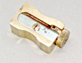 Antiker Spitzer,  Bleistiftspitzer,  Dux 145,  Messing,  Messingspitzer In Lederetui Bild