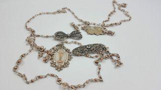 Sehr Lange Religiöse Kette Silber S595 Bild