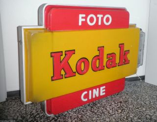 1960 Kodak Foto & Cine Neon Leuchtreklame Art DÉco Holland PhotogeschÄft Rar Bild