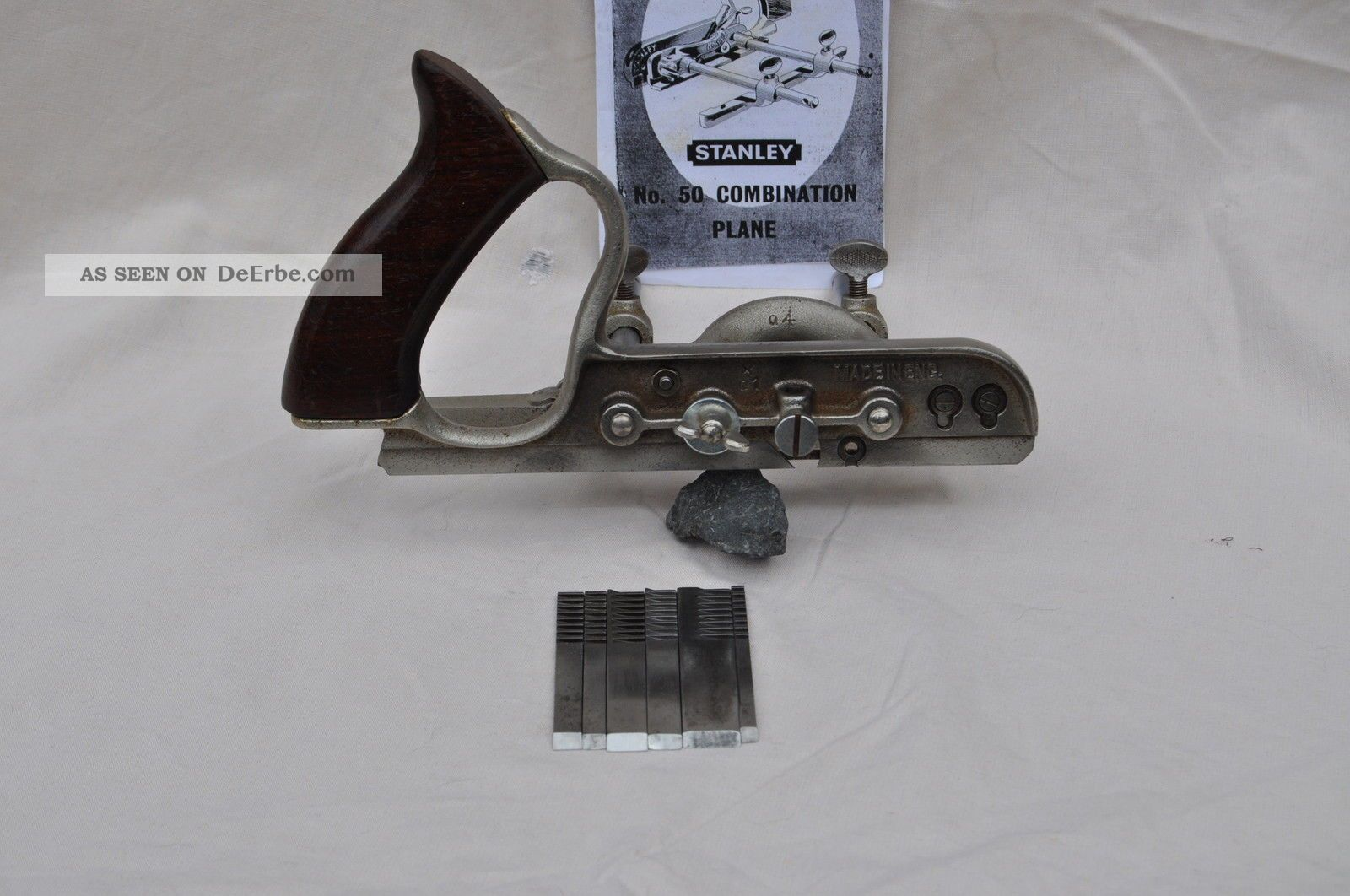 Hobel - Stanley Multihobel Nr.  50 Mit 6 Messer Und Bedienungsanleitug Zimmermann Bild