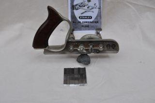 Hobel - Stanley Multihobel Nr.  50 Mit 6 Messer Und Bedienungsanleitug Bild