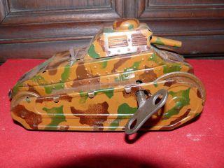 Panzer Ca.  100 Jahre Alt Mit Federwerkantrieb Militär Spielzeug Blechspielzeug Bild