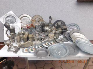 Zinn Konvolut Riesige Zinnsammlung/zinnschrott Ca 17/5 Kg 72 Teile Bild