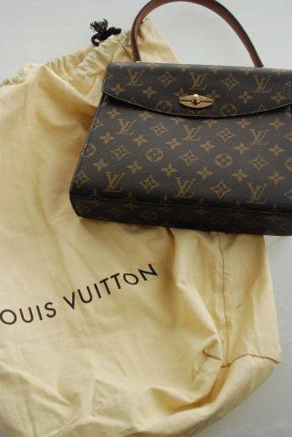 Orig.  Louis Vuitton Designer Handtasche Braun Gold Klassiker Top - Bild
