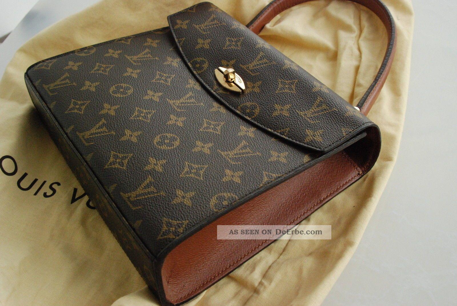 f73b6577cce08 Orig. Louis Vuitton Designer Handtasche Braun Gold Klassiker Top -