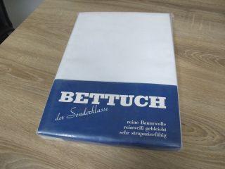 2 Betttücher Bettlaken Der Sonderklasse Weiß Baumwolle Unbenutzt A56 Bild