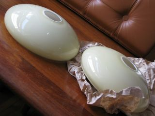 Überfanggläser Cremefarben Weiß 20er 30er Lampenschirm Glas E27 Geblasen Opal Bild