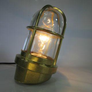 Schiffslampe Massiv Messing Glaskolbenlampe Maschinenraum Lampe Decklampe Bild
