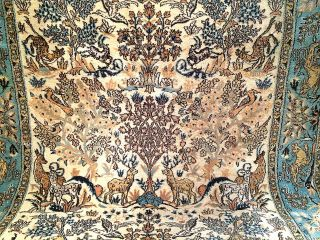 Handgeknüpft Orientteppich Mit Seide 225x140 Cm Carpet Tappeto Tapis Top 4900,  - Bild