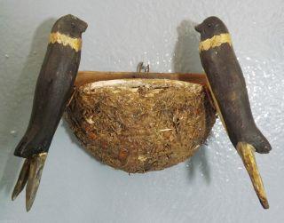 Holzvögel,  Antik - Von Ca.  1930