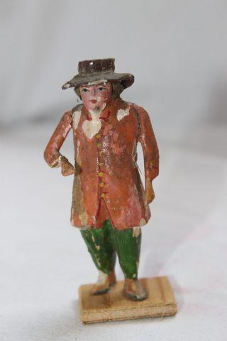 Antike Grulich Holzfigur Krippenfigur Holz Figur 7,  5 Cm Serie Um 1880 /1900 N34 Bild