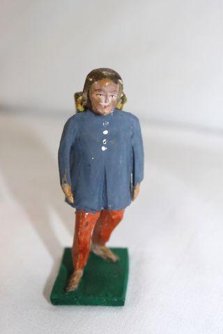 Antike Grulich Holzfigur Krippenfigur Holz Figur 7,  5 Cm Serie Um 1880 /1900 N19 Bild
