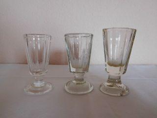3 Antik Pressgläser - Schnapsglas - Stamper - Unterschiedlich Groß - Gründerzeit Ca 1880 Bild