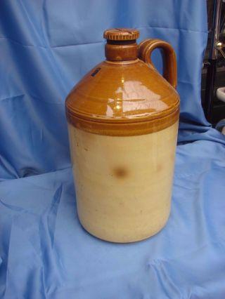 Pearsons Of Chesterfield 10 Liter Schnaps Weinflasche Steingut Mit Schraubdeckel Bild