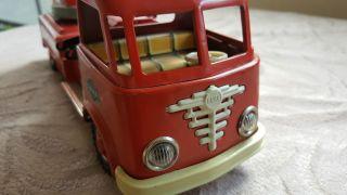 Sehr Seltene Alter Feuerwehr Auto Von Patent Gama Mechanik 29 Cm Bild