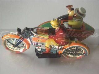Feines Lithopgarhiertes Motorrad Mit Beiwagen - Uhrwerk Bild