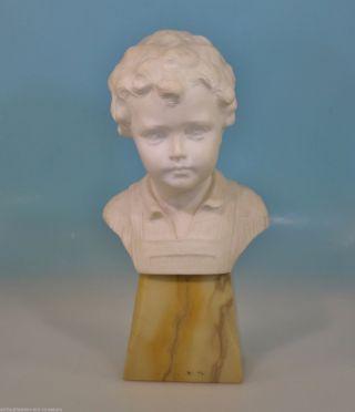 Jugendstil Büste Knabe Junge Schumacher Greiner France Alabaster/marmor Skulptur Bild