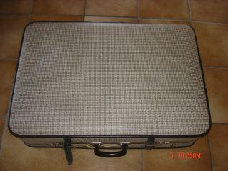 Uralter Koffer Vermutlich 50er O.  Noch Früher Dachbodenfund Pepita Shabby Chic Bild