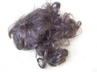 Alte Puppenteile Dunkelbraunelocken Haar Perücke Vintage Doll Hair Wig 40cm Girl Bild