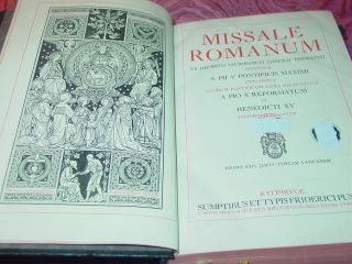 Missale Romanum Von Ca 1941 Messbuch Liturgie Bild