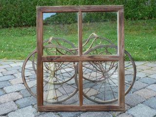 Altes Fenster Holzfenster Sprossenfenster Unlackiert Bild