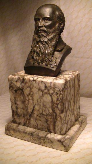Schöne,  Alte Figur,  Skulptur Büste,  Kopf Mann 22 Cm 2,  5 Kg Eisernes Kreuz,  Antik Bild